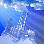 Chemical plant & technology background