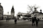 Krakow In Black And White