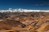 The Himalaya, view from Tibet