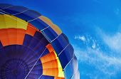 Hot air balloon and blue sky