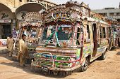 Pakistani local buses