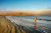 Atlantic coast at sunrise, Luderitz, Namibia
