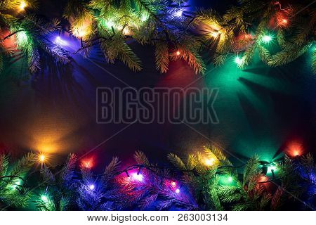 Christmas holiday background with copy