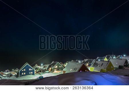 Arctic Polar Night Over Colorful