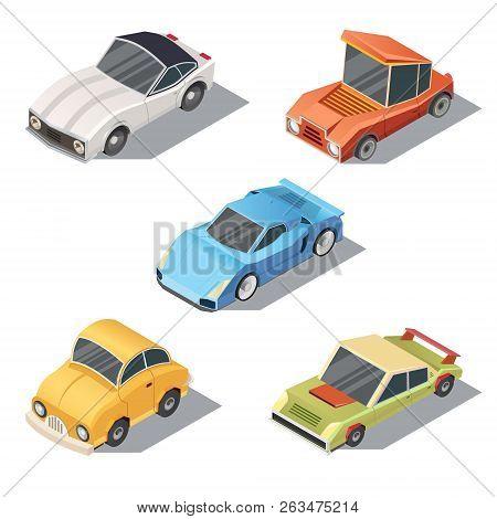 Set Of Isometric Urban Transportation