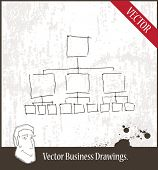 Vector illustration. Organizational chart.