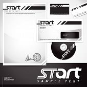 Document, letter, business card and disk template. EPS-10