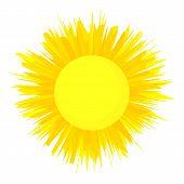 The Sun Is Shining Icon. Cartoon Illustration Of The Sun Is Shining Icon For Web poster