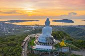 Aerial View Phuket Big Buddha Is One Of The Island Most Important And Revered Landmarks On The Islan poster
