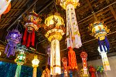 Hanging Lantern In Thai Temple And Thai Home. Made From Bamboo Paper. Chiang Mai, Thailand Thai Lann poster