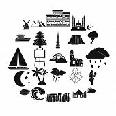 Dusk Icons Set. Simple Set Of 25 Dusk Vector Icons For Web Isolated On White Background poster
