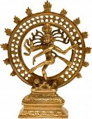 Illustration of Statue of indian hindu god Shiva Nataraja - Lord of Dance isolated on white. Raster.