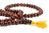 Japa Mala - Buddhist or Hindu prayer beads isolated on white