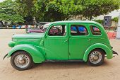 CHENNAI - INDIA - JULY 24: Ford Prefect 1952 (retro vintage car) on Heritage Car Rally 2011 of Madra