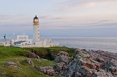 Rua Reidh Lighthouse In Evening Light, Scotland
