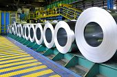 rolls of steel sheet