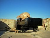 picture of emplacements  - The Armstrong 100 Ton Gun at Fort Rinella Kalkara Malta - JPG