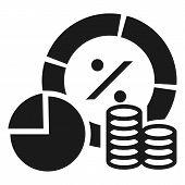 Finance Money Graph Icon. Simple Illustration Of Finance Money Graph Vector Icon For Web Design Isol poster