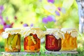image of pickled vegetables  - autumn preserves - JPG