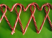 Candy Cane Heart Row