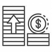 Money Grow Up Icon. Outline Money Grow Up Vector Icon For Web Design Isolated On White Background poster