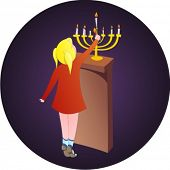 Hanukkah illustration