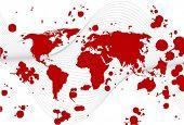 splatter like world map vector