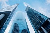 picture of business-office  - Three skyscrapers - JPG