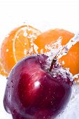 Apple And Orange Splash