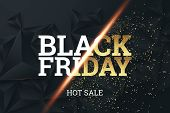 Black Friday Background Layout Background Black And Gold. Inscription Black Friday On A Dark Backgro poster