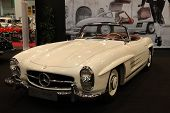 Essen, Germany - Nov 29: Mercedes-benz 300 Sl Roadster From 1960 Shown At The Essen Motor Show In Es