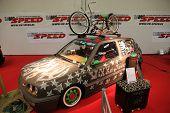 Essen, Germany - Nov 29: Vw Golf Custom From Vw-speed Shown At The Essen Motor Show In Essen, German