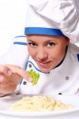 chef funy comer macarrão saboroso