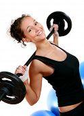 Постер, плакат: красивые девушки делают Фитнес