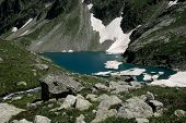 picture of firn  - Alpine Lake Alpine latitudes at different times of the year - JPG