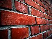 Brick Wall On A Close-Up View