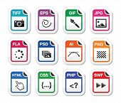 picture of png  - Web file types icons set  - JPG