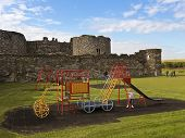A Beaumaris Castle Playground On Anglesey, Wales
