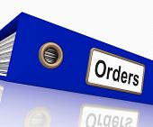 Orders File Contains Sales Reports And Documents