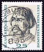Postage stamp Germany 1972 Lucas Cranach, by Durer