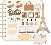 Elementos de scrapbook com Tour Hotel d'e cosméticos
