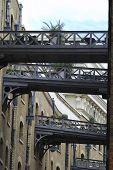 Aerial Walkways In Southwark. UK