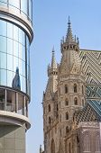 St Stephens Cathedral And Haas Haus Vienna