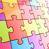 Puzzle Jigsaw Background Made Of Colorful Pieces