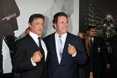 Los Angeles - AUG 15:  Sylvester Stallone, Frank Stallone arrives at the