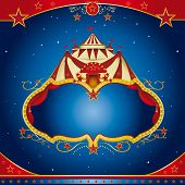 Circus magic leaflet. A circus leaflet for the announcement of your show.