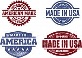 Made in USA-Amerika-Original-Briefmarken