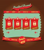 Vintage Web design elements 4
