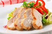 Chicken breast and light salad
