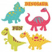 Scrapbook Design Elements - �?��?�¡ute Dinosaur Set - in vector